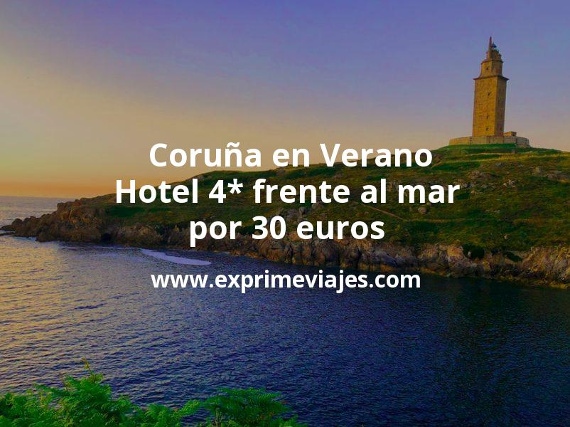 ¡Chollo! Coruña en Verano: Hotel 4* frente al mar por 30€ p.p/noche