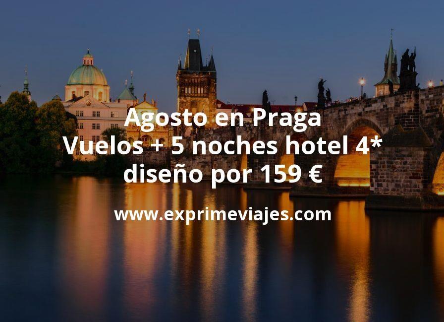 ¡Chollo! Agosto en Praga: Vuelos + 5 noches hotel 4* diseño por 159euros