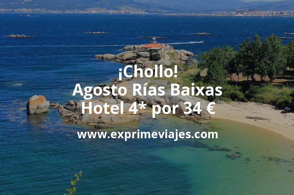 ¡Chollo! Agosto Rías Baixas: Hotel 4* por 34€ p.p/noche