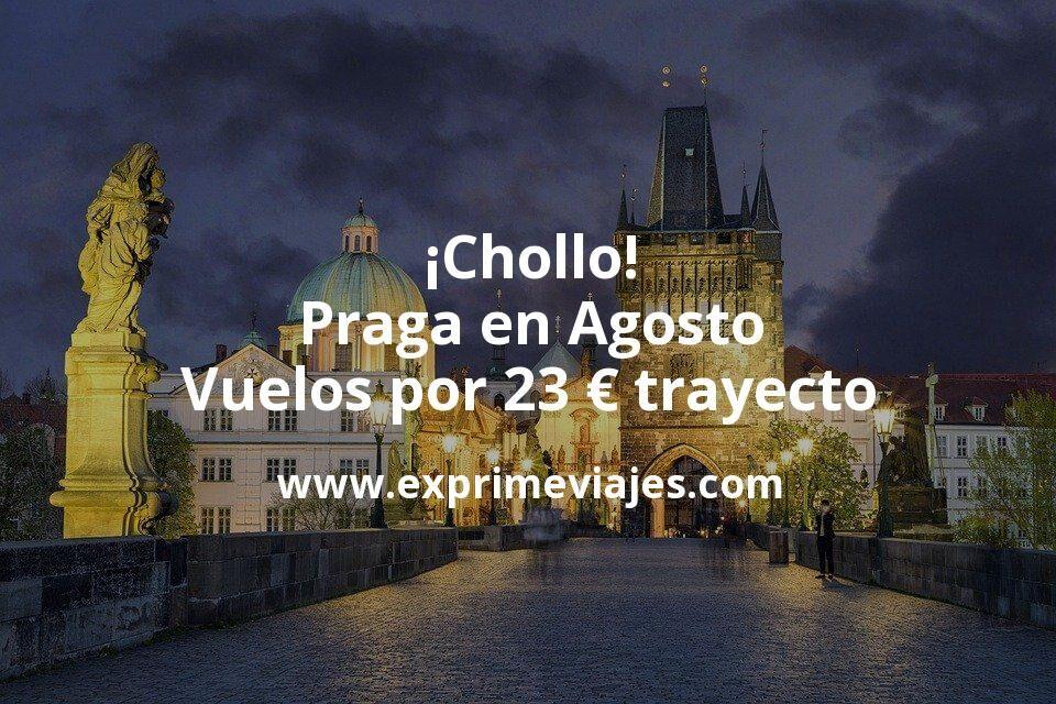 ¡Chollo! Praga en Agosto: Vuelos por 23euros trayecto
