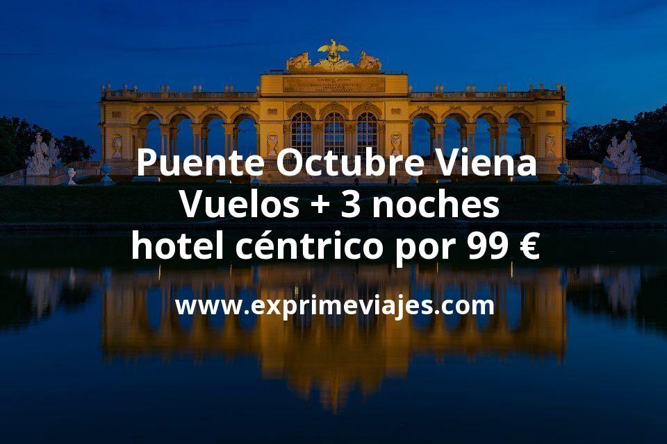 Puente Octubre Viena: Vuelos + 3 noches hotel céntrico por 99euros