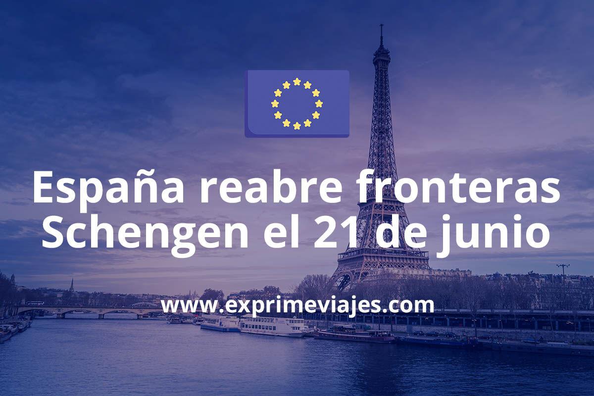 España abre sus fronteras el 21 de junio con Europa