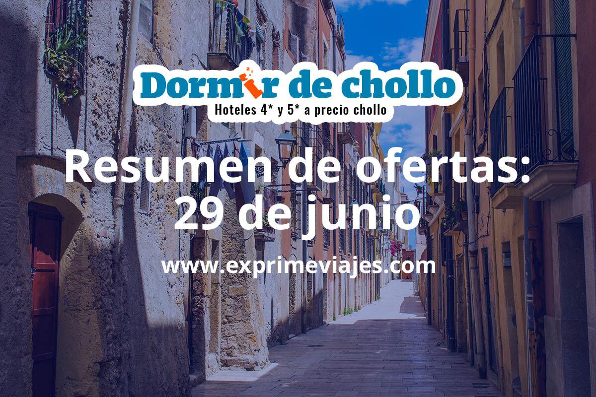 Resumen de ofertas publicadas en Dormir de Chollo el 29 de junio