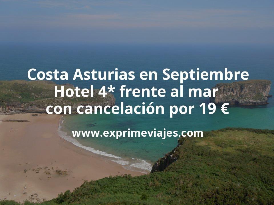 ¡Chollo! Costa Asturias en Septiembre: Hotel 4* frente al mar con cancelación por 19€ p.p/noche