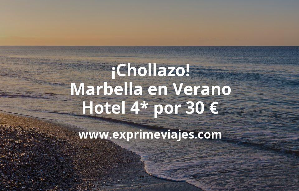 ¡Chollazo! Marbella en Verano: Hotel 4* por 30€ p.p/noche