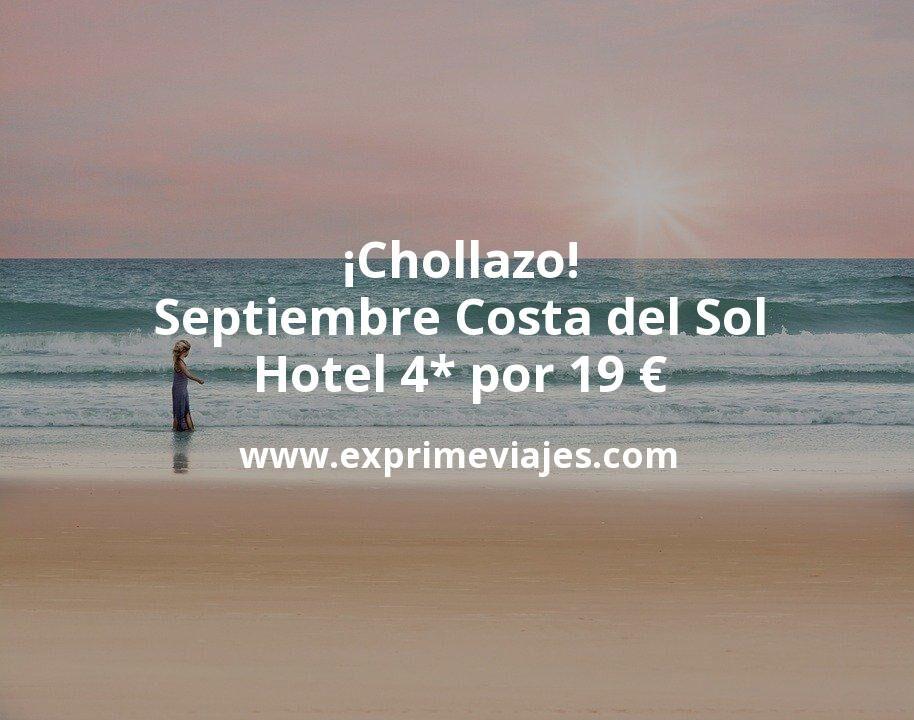 ¡Chollazo! Septiembre Costa del Sol: Hotel 4* por 19€ p.p/noche