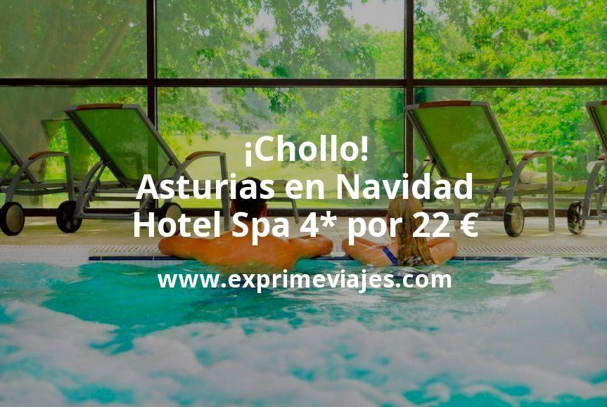 ¡Chollo! Asturias en Navidad: Hotel Spa 4* por 22€ p.p/noche