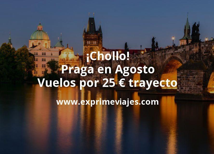 ¡Chollo! Praga en Agosto: Vuelos por 25euros trayecto