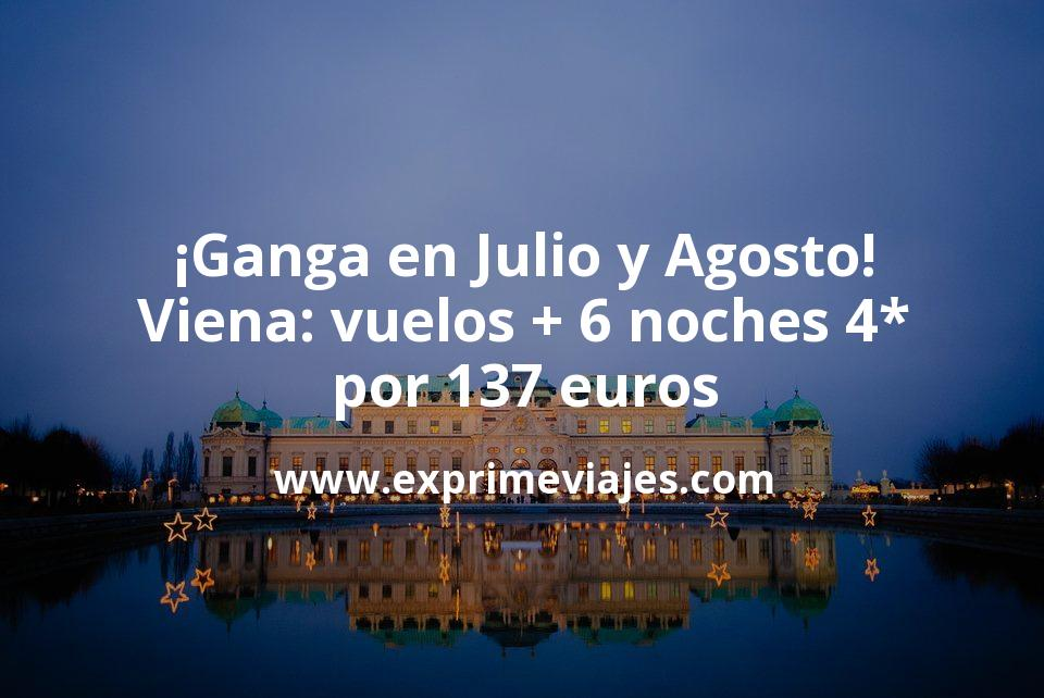 ¡Ganga! Viena en Verano: Vuelos + 6 noches 4* por 137euros