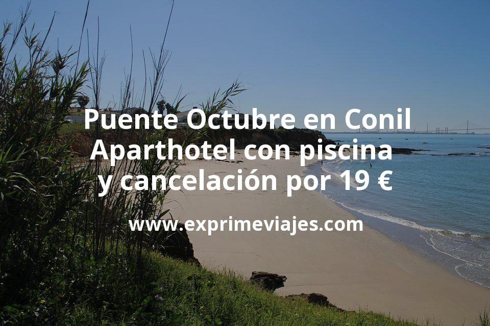 Puente Octubre en Conil: Aparthotel con piscina y cancelación por 19€ p.p/noche