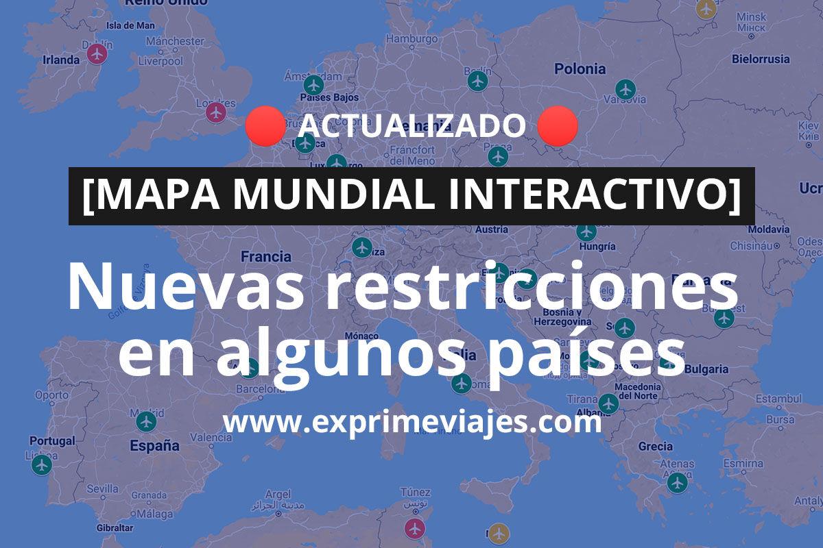-MAPA MUNDIAL INTERACTIVO ACTUALIZADO- ¿A qué país del mundo puedo viajar?