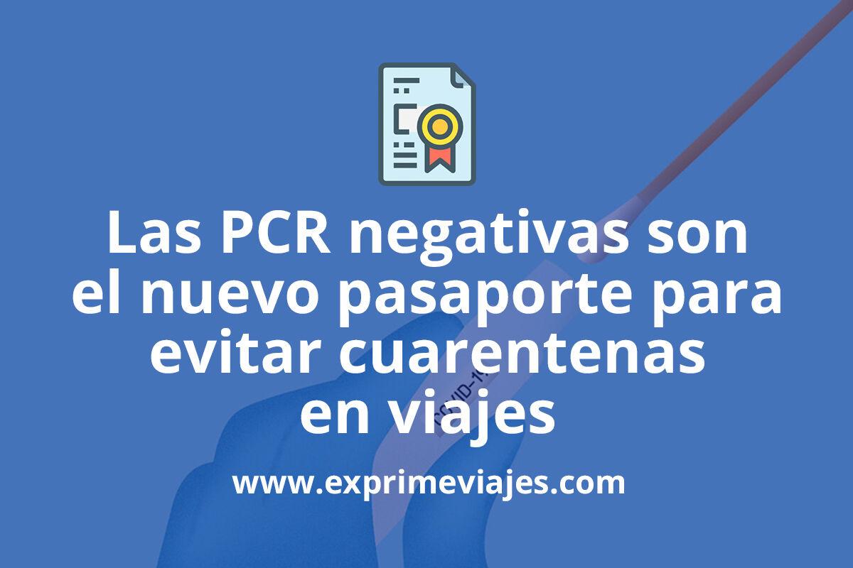 Pruebas PCR de Covid-19 para evitar cuarentenas en viajes, ¿son una opción real?