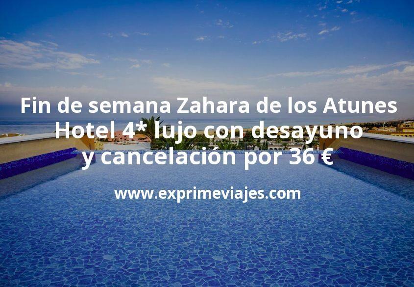 Fin de semana Zahara de los Atunes: Hotel 4* lujo con desayuno y cancelación por 36€ p.p/noche