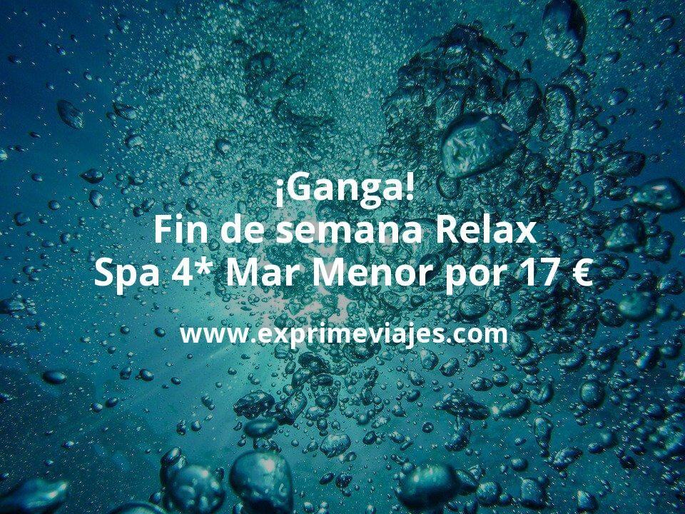 ¡Ganga! Fin de semana Relax: Spa 4* Mar Menor por 17€ p.p/noche