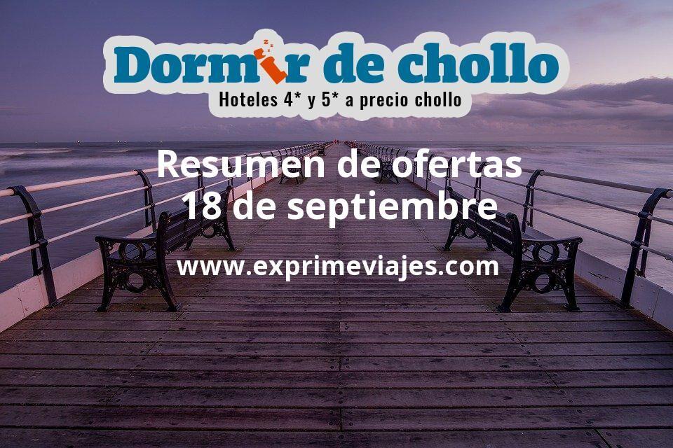 Resumen de ofertas de Dormir de Chollo – 18 de septiembre