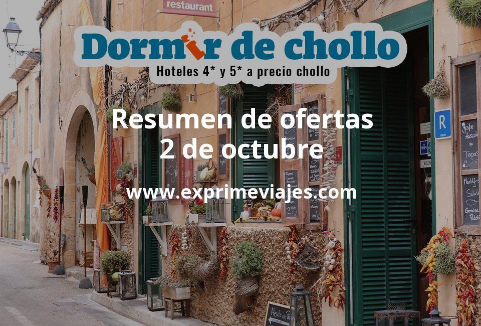 Resumen de ofertas de Dormir de Chollo – 2 de octubre