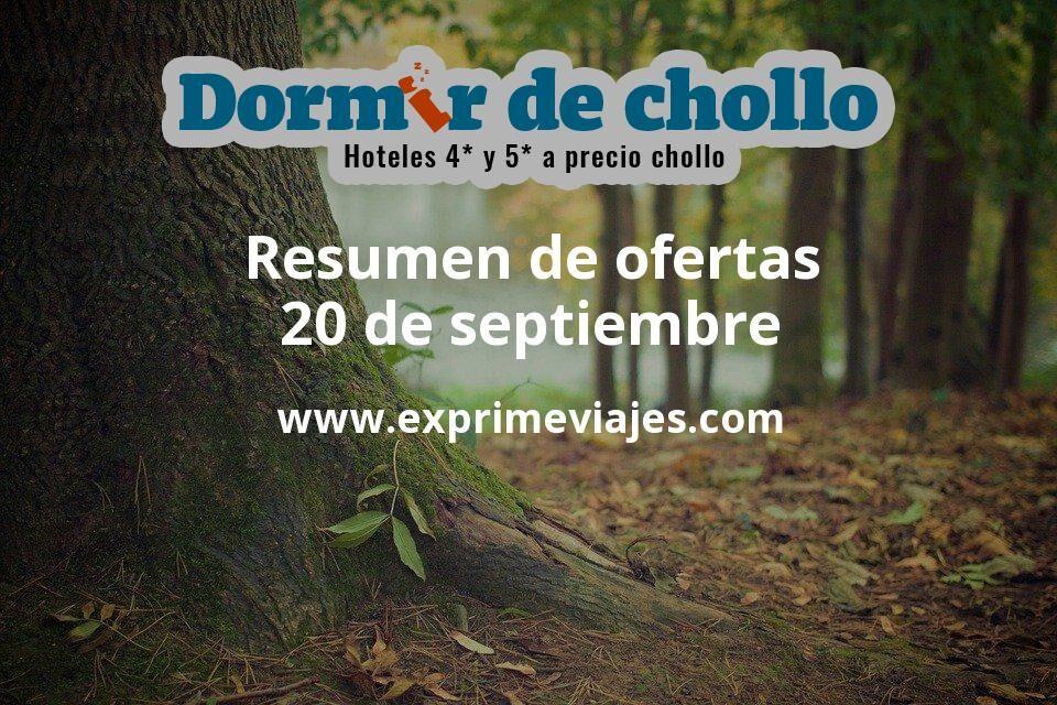 Resumen de ofertas de Dormir de Chollo – 20 de septiembre