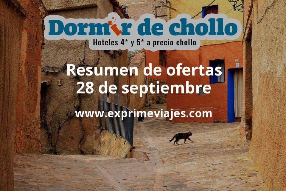 Resumen de ofertas de Dormir de Chollo – 28 de septiembre