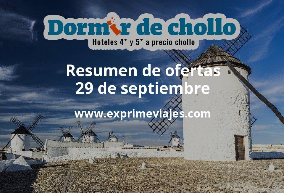 Resumen de ofertas de Dormir de Chollo – 29 de septiembre