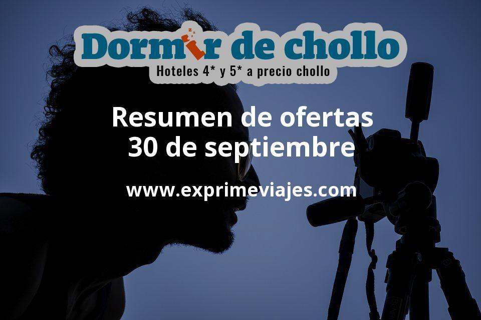 Resumen de ofertas de Dormir de Chollo – 30 de septiembre