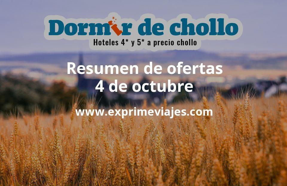 Resumen de ofertas de Dormir de Chollo – 4 de octubre