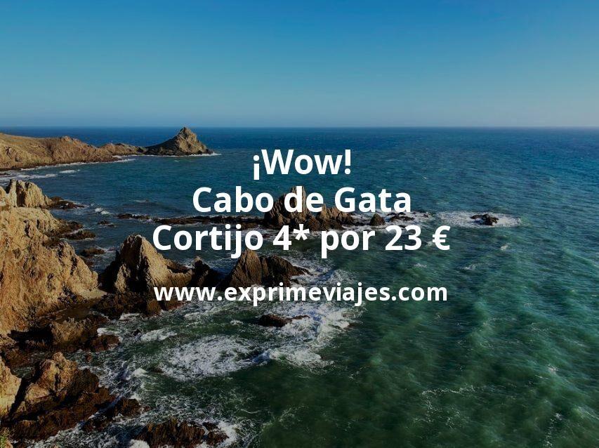 ¡Wow! Cabo de Gata: Cortijo 4* por 23€ p.p/noche