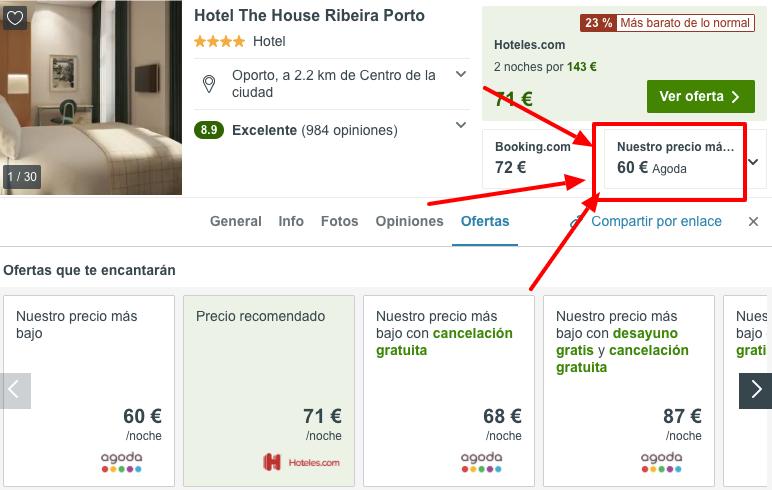 hotel en el centro de oporto barato