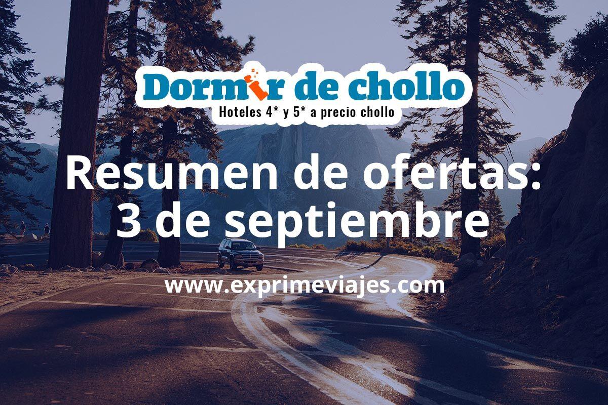 Resumen de ofertas de Dormir de Chollo – 3 de septiembre