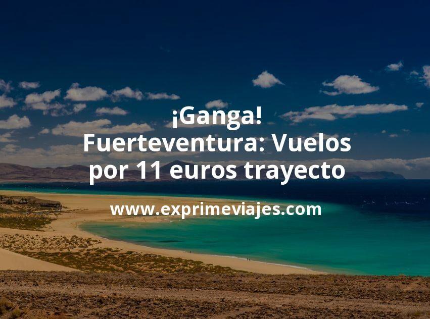 ¡Ganga! Fuerteventura: Vuelos por 11euros trayecto