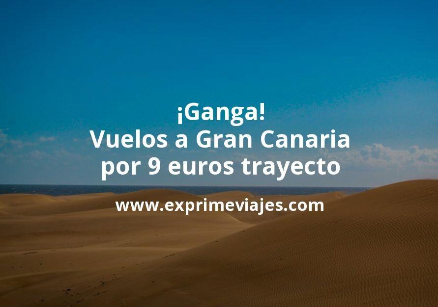 ¡Ganga! Vuelos a Gran Canaria por 9euros trayecto