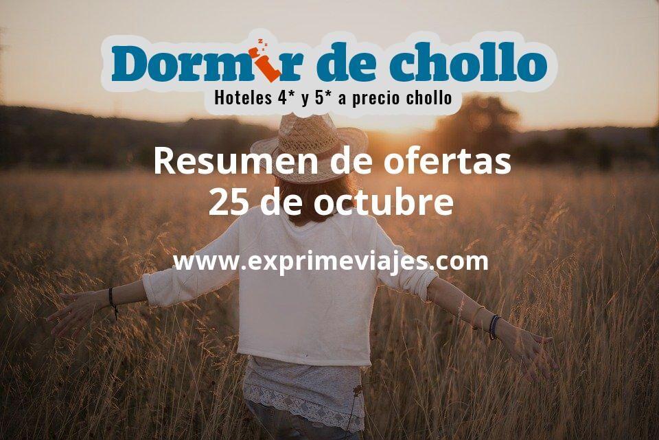 Resumen de ofertas de Dormir de Chollo – 25 de octubre