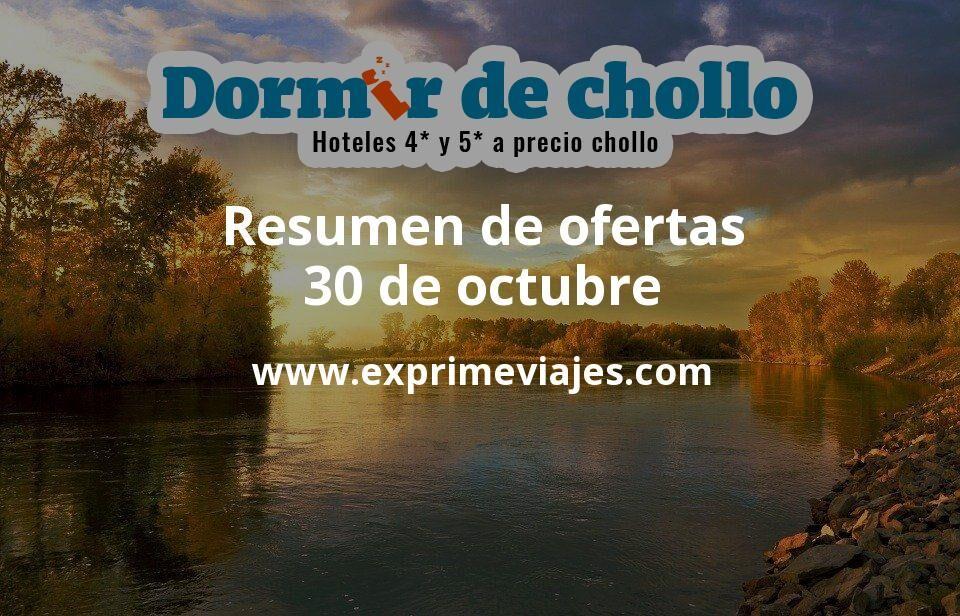 Resumen de ofertas de Dormir de Chollo – 30 de octubre