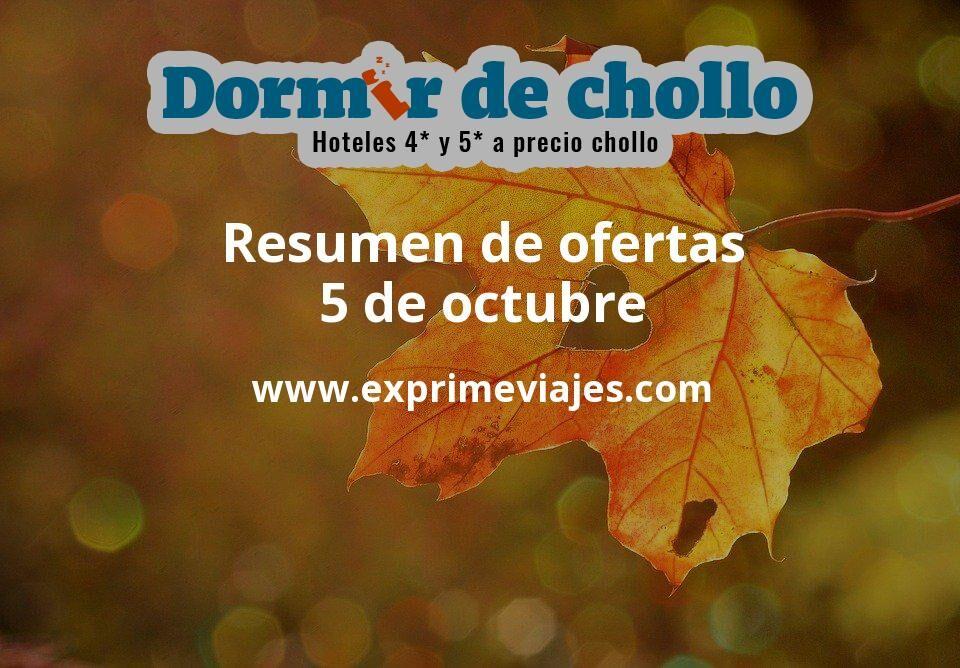 Resumen de ofertas de Dormir de Chollo – 5 de octubre