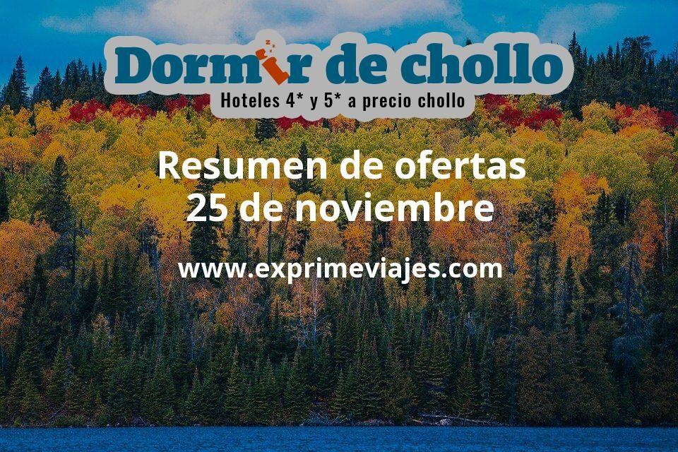 Resumen de ofertas de Dormir de Chollo – 25 de noviembre