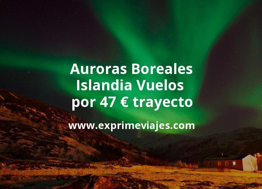 Auroras Boreales en Islandia: Vuelos por 47euros trayecto