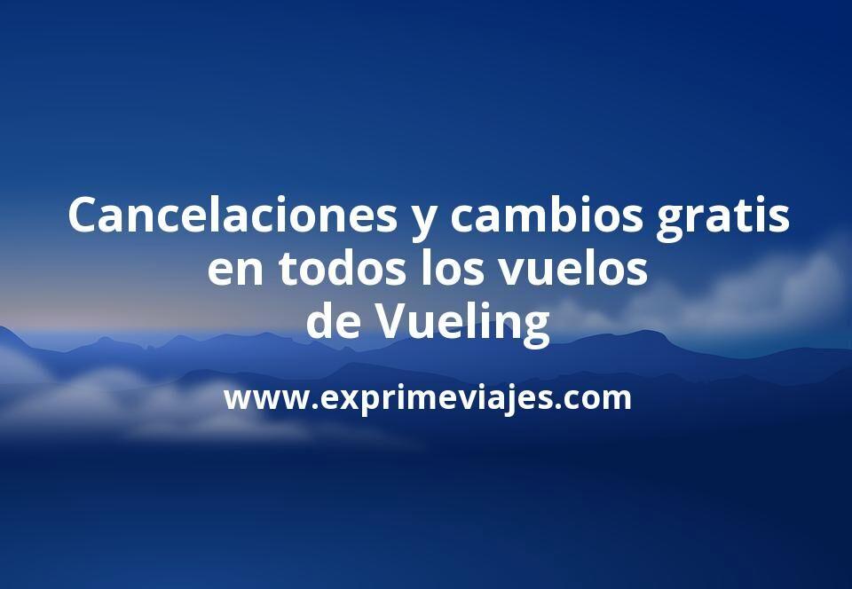 Cancelaciones y cambios gratis de destinos, días, horas y pasajeros en todos los vuelos de Vueling