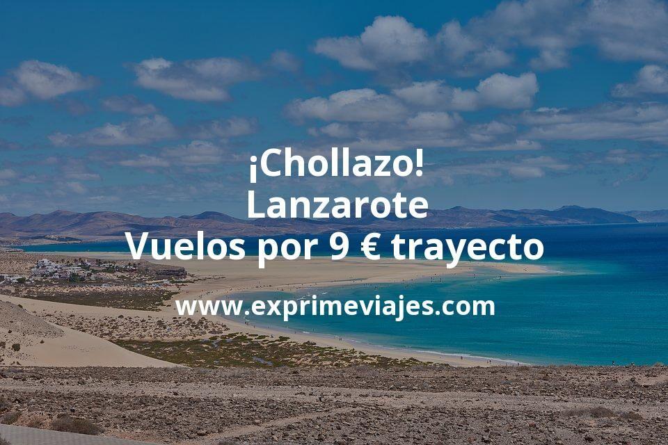 ¡Chollazo! Lanzarote: Vuelos por 9euros trayecto