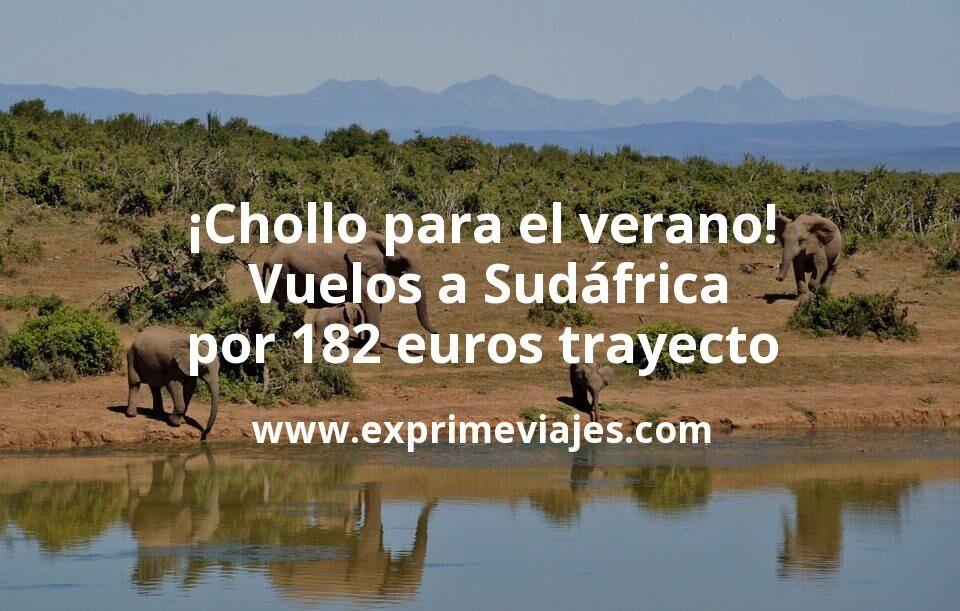 ¡Chollo para el verano! Vuelos a Sudáfrica por 182euros trayecto