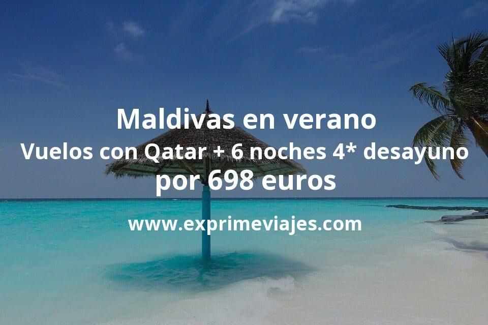 ¡Wow! Maldivas en verano: vuelos flexibles con Qatar + 6 noches 4* con desayuno y cancelación por 698euros