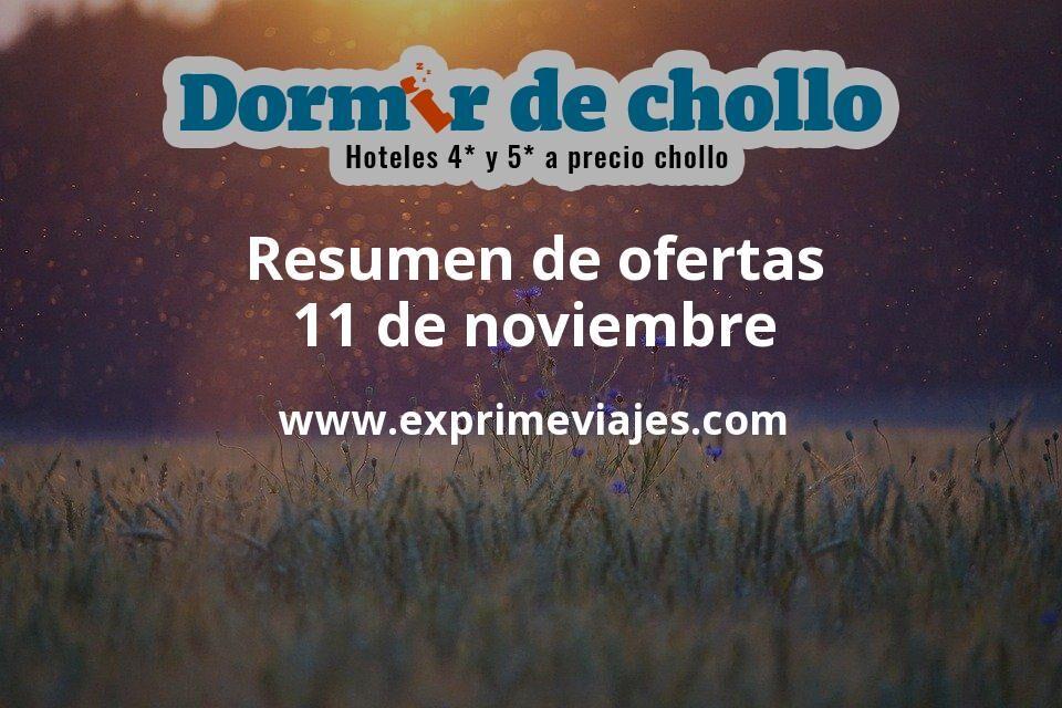 Resumen de ofertas de Dormir de Chollo – 11 de noviembre