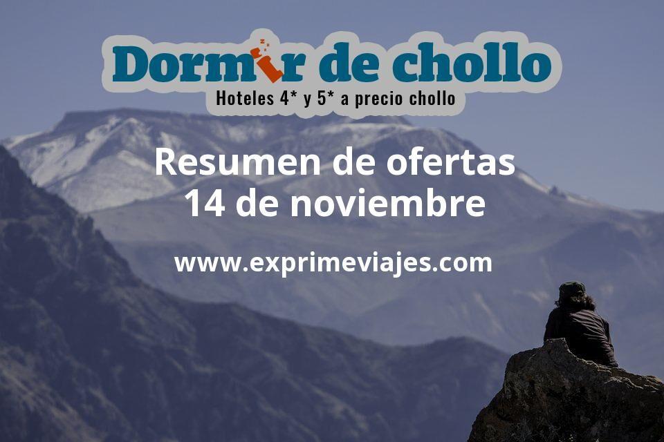 Resumen de ofertas de Dormir de Chollo – 14 de noviembre
