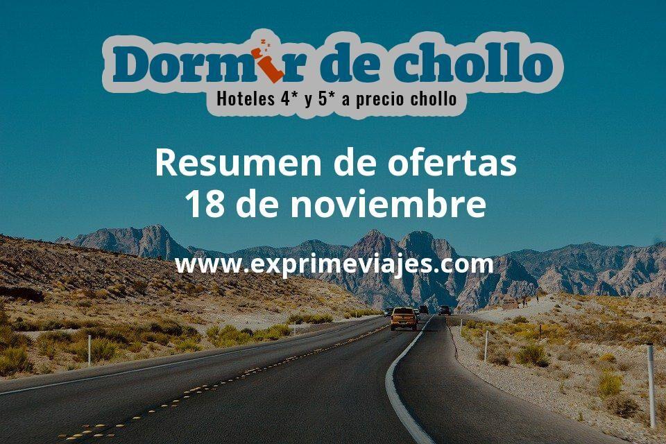 Resumen de ofertas de Dormir de Chollo – 18 de noviembre