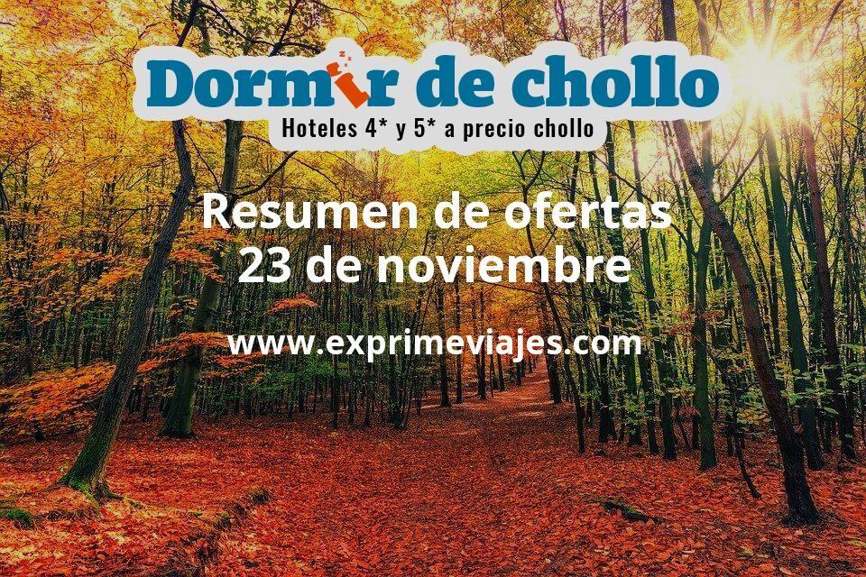 Resumen de ofertas de Dormir de Chollo – 23 de noviembre