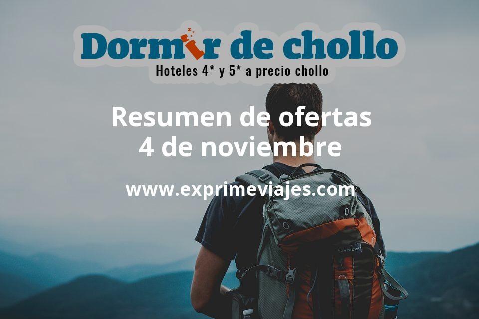 Resumen de ofertas de Dormir de Chollo – 4 de noviembre