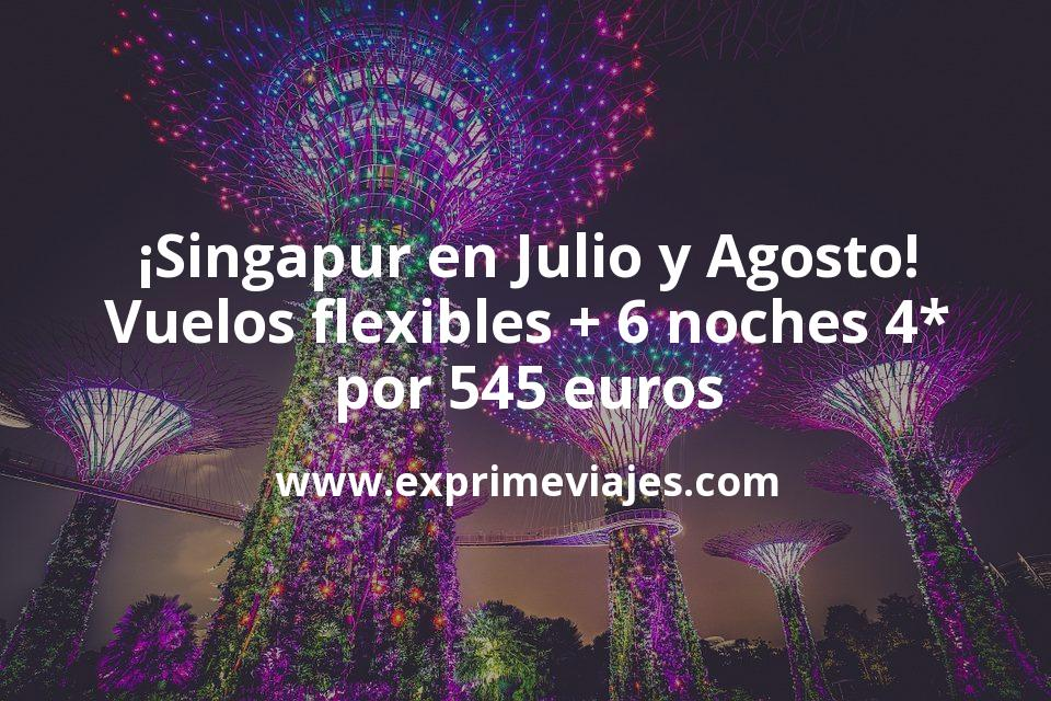 ¡Chollazo! Singapur en julio y agosto: vuelos + 6 noches 4* con cancelación por 545euros