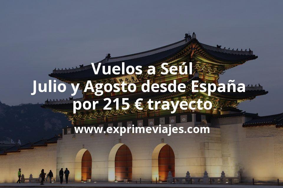 Vuelos a Seúl en Julio y Agosto desde España por 215euros trayecto