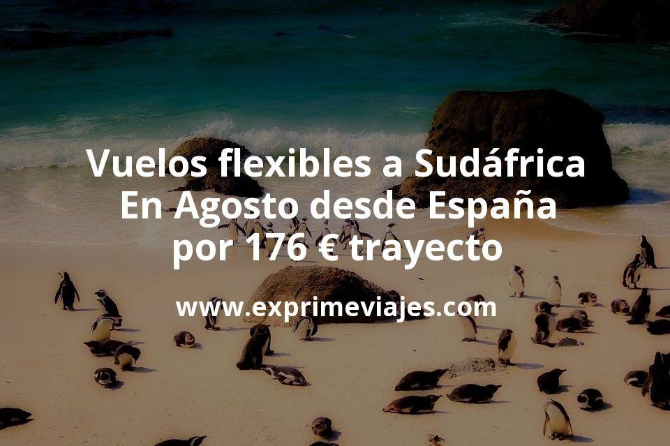 ¡Chollo! Vuelos flexibles a Sudáfrica en Agosto desde España por 176€ trayecto