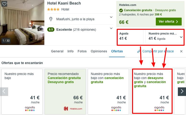 hotel en maldivas playa barato en agosto