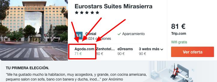 chollo dormir hotel 5 estrellas madrid