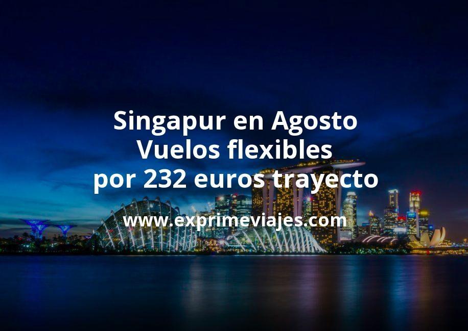 Singapur en Agosto: Vuelos flexibles por 232euros trayecto